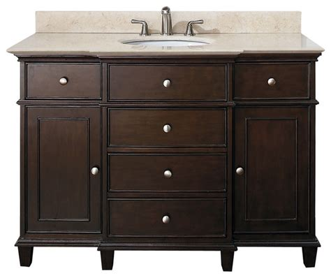 classic bathroom vanities walnut finish traditional
