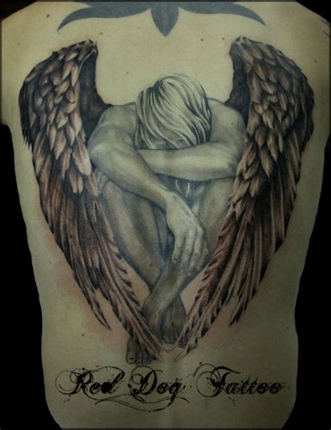 fallen angel tattoos for men 25 designs fallen tattoos