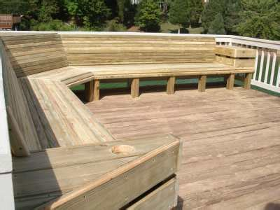 built in bench on deck virginia deck contractor