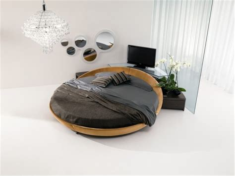 modern round bed contemporary leather round beds by prealpi digsdigs