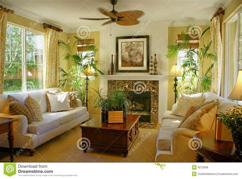 sunny bedrooms sunny yellow living room w fan stock photo image 9272838