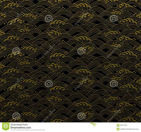 japanese wave pattern illustrator seamless ocean wave pattern stock vector image 35371129
