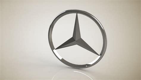 tutorial logo mercedes mercedes benz logo stl step iges solidworks 3d cad