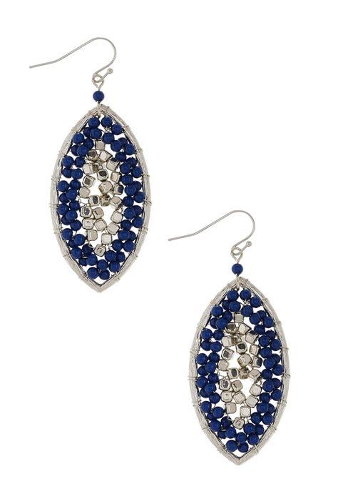 seed bead oval earrings earrings cato fashions