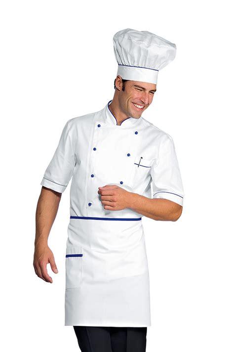 vetements de cuisine pas cher veste chef cuisinier alicante blanc bleu cyan 100 coton