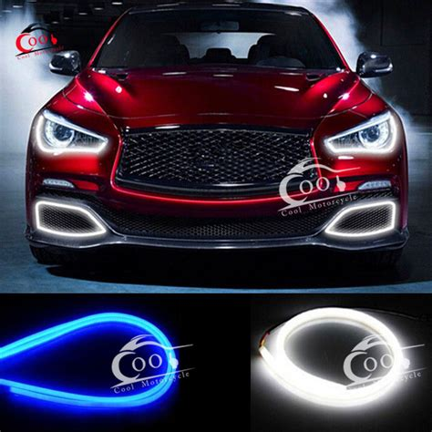Auto Led Light Strips 2x 60cm Soft Guide Car Led Light L Turn Signal Light Headlight Daytime L Switchback