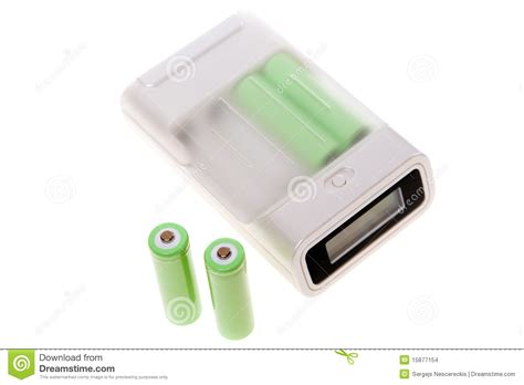 four aa batteries battery charger with four aa batteries stock images