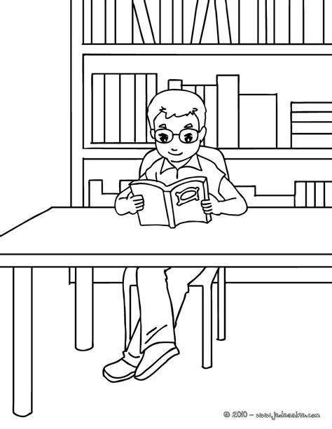 Coloriages coloriage bibliotheque   fr.hellokids.com