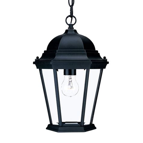 Shop Acclaim Lighting Telfair 12 5 In Matte Black Vintage Black Lantern Pendant Light