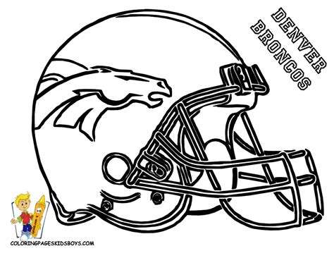 Nfl Coloring Pages Broncos | denver broncos coloring pages coloring home