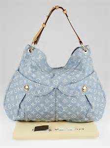louis vuitton blue clair denim monogram denim daily gm bag