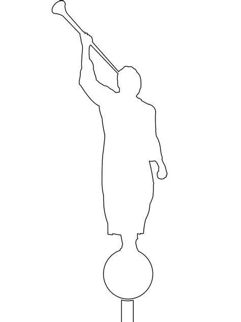 coloring pages angel moroni angel moroni silhouette free vector silhouettes