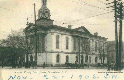 Guilford County Court Search Greensboro Carolina Guilford County Court House Vintage Postcard Historic Photo