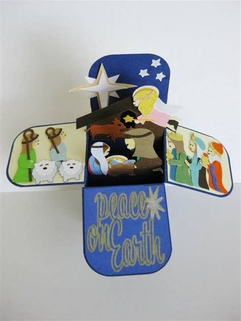 Pop Up Nativity Card Template by 450 Best Cards Nativity Images On