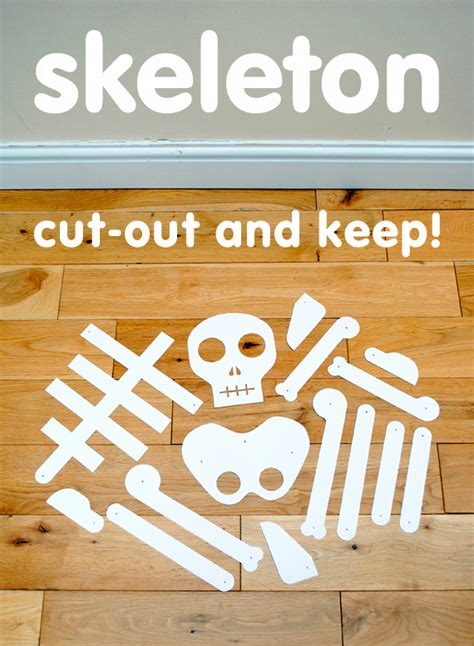 printable paper skeleton the crafty crow cut out and keep skeleton minieco