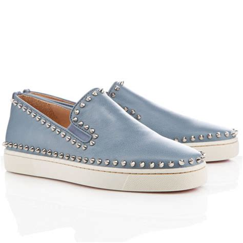 boat sandals christian louboutin pik boat sandals light grey men