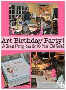 art birthday party a great party idea for 10 year old
