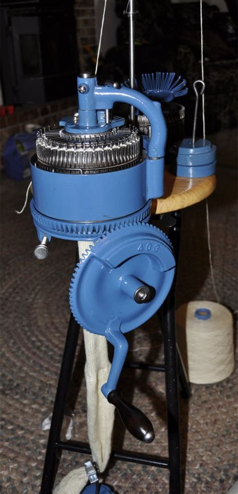 sock knitting machine blue powder coated legare 400 sock knitting machine for sale