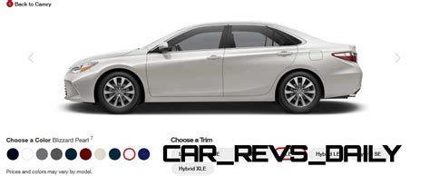 camry colors 2015 toyota camry xle colors 36