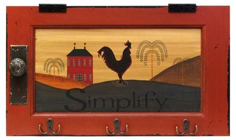 Decorative Picture Hooks Country Rooster Simplify Plaque With Hooks Chicken Poo