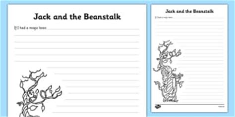 The Beanstalk Writing Template and the beanstalk writing frames and aids primary