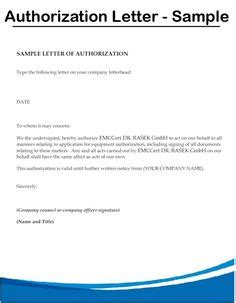 Authorization Letter Sle To Act On Behalf