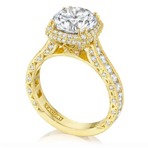 tacori ht2607rd9y 18 karat tacori gold engagement ring