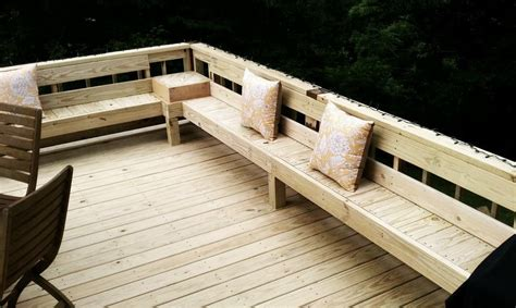bench seating on deck perimeter bench seating on deck love this remodeling