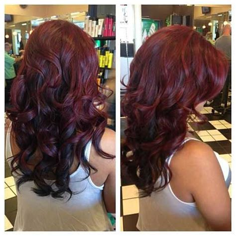 cut curl hair with cherry red colour 27 hairstyles for long dark hair long hairstyles 2016 2017