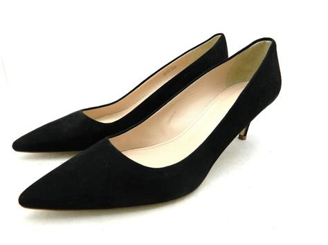 Kitten Heels Pumps black suede kitten heel pumps is heel