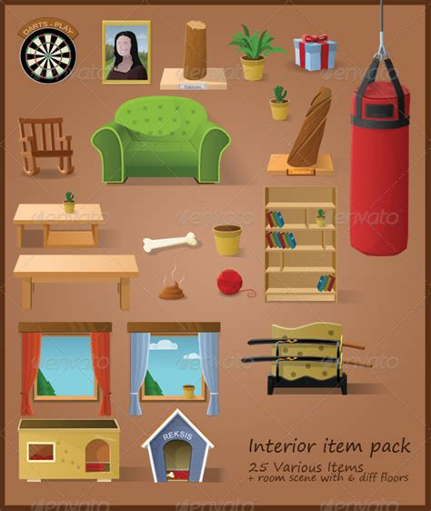 interior stuff interior items 22 items living room graphicriver