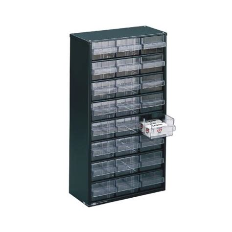 storage cabinet clear 24 drawer system grey 324124