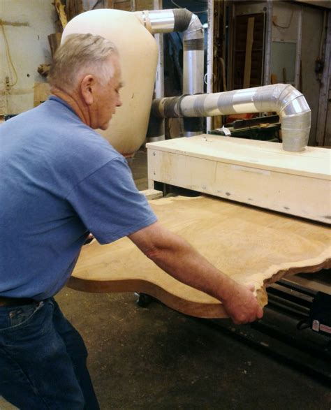 woodworking sanding slabs of wood call for one mighty big drum sander