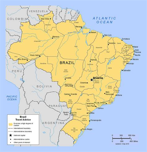 political map brazil detailed political and administrative map of brazil with