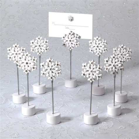 place card holders ideas for your wedding arabia weddings white winter wedding placecard holders for wedding