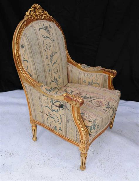 carved armchair pair louis xv gilt arm chairs armchair tub hand carved