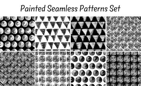 Brush Easy Pattern   10 seamless patterns brush strokes patterns on creative