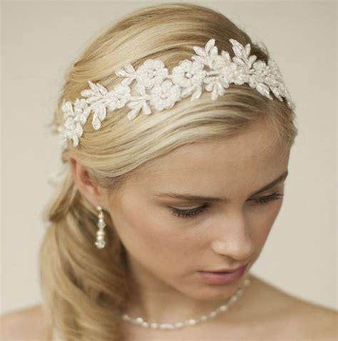 Wedding Hair With Ribbon by Lace Wedding Hair Ribbon Malia Zaphira By Princess Sparkle