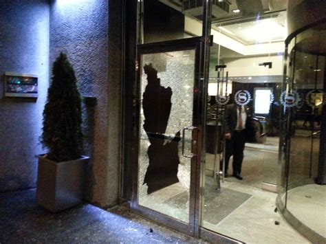 Tuition Protest Ends With Smashed Windows Arrests Ctv Glass Door Shattered
