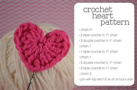 pattern of heart in crochet tiny crochet heart pattern short hairstyle 2013