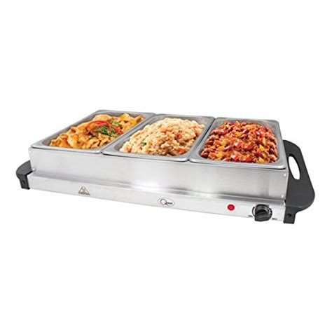 quest buffet server hotplate with 3 sections 300 watt at