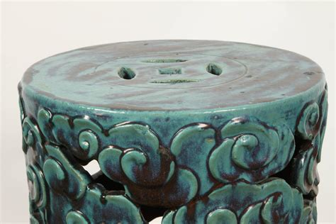 Turquoise Garden Stool by Turquoise Porcelain Garden Stool At 1stdibs