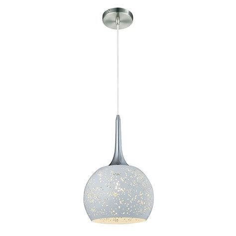 Large Globe Pendant Light Franklite Perfora Single Light Large Globe Ceiling Pendant In White Finish Lighting Type From