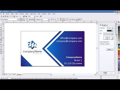 how to design identity card using coreldraw how to create a company business card corel draw youtube