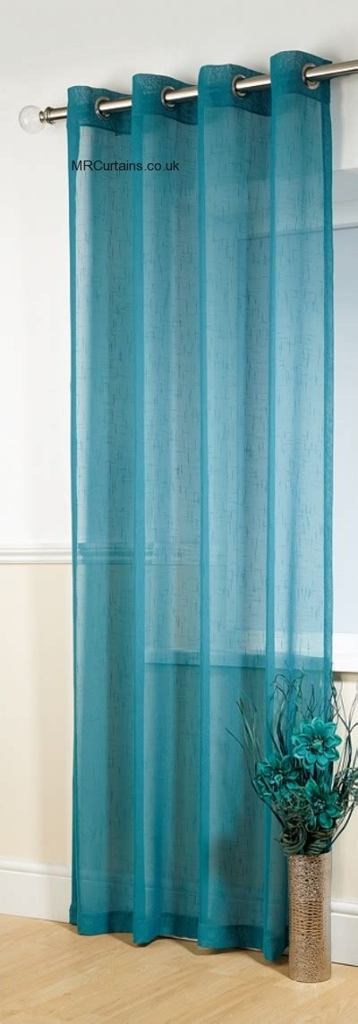 teal net curtains voile panel java string panels by mirabel in teal