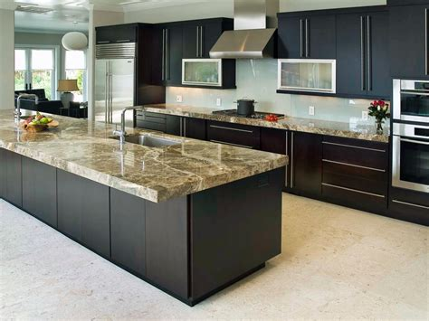 kitchen counter islands 10 high end kitchen countertop choices kitchen ideas
