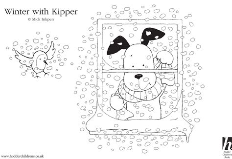 kipper snowy colouring scholastic book club