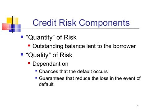 Formal Credit Risk Jntu Credit Risk Management