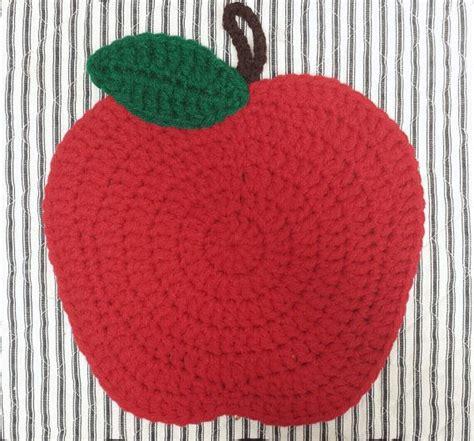 Handmade Pot Holders Patterns - apple potholder crochet handmade pad by
