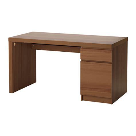 ikea scrivania malm malm scrivania mordente marrone impiallacciatura di